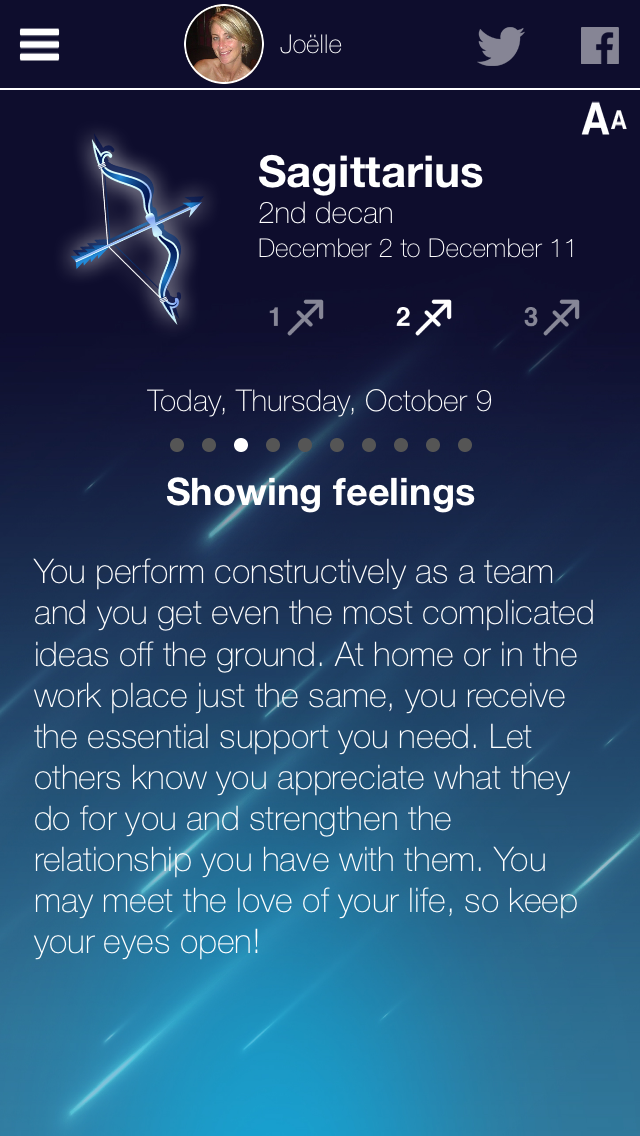 My Horoscope Screenshot woman view